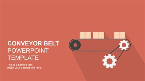 Flat Conveyor Belt Powerpoint Template Slidemodel Powerpoint Template For