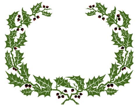 printable holly images vintage clip art holly wreath graphic frame the