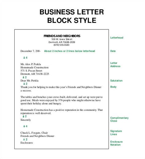 Business Letter Address Block business letter template 20 free sle exle format