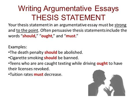 Exle Of Thesis Statement For Argumentative Essay simon schuster handbook for writers 10 e ch 15 16 argumentation ppt