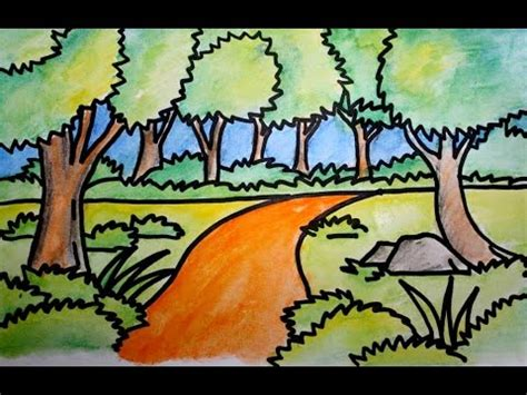 cara membuat minyak kemiri beserta gambar cara menggambar pemandangan alam jalan dan hutan versi