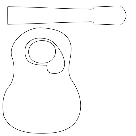 guitar templates acoustic guitar cake template cake decotions