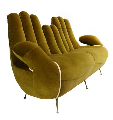 weird sofas large 50 s italian hands sofa