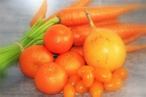 e fruits and vegetables orange coloured fruits and vegetables happy foods