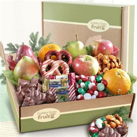 deluxe holiday goodies and fruit gift box ab2032 a