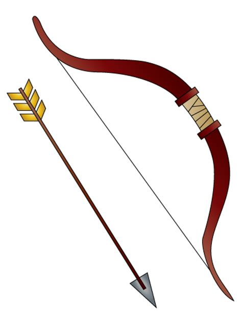 How To Draw A Bow And Arrow 5 Steps With Pictures Wikihow Bow And Arrow Drawing