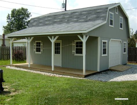 Shed With Loft And Porch by Hi Loft Porch Barn Style