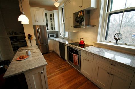 Tiny Galley Kitchen Design Ideas by Brookline Kitchen Remodel Before Amp After New England