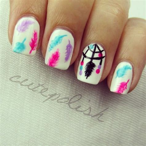 cute simple tuxedo nail art design by cutepolish the dream catcher nails by cutepolish nail art pinterest