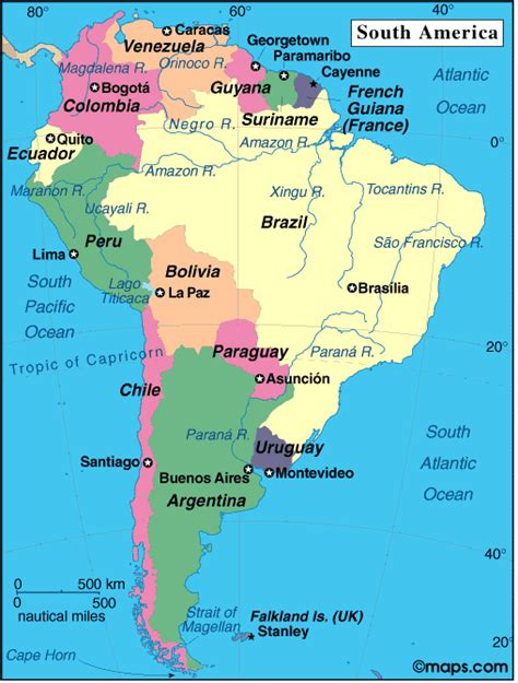 south america map cities and countries agnred sydamerika ecuador peru chile argentina brasilen
