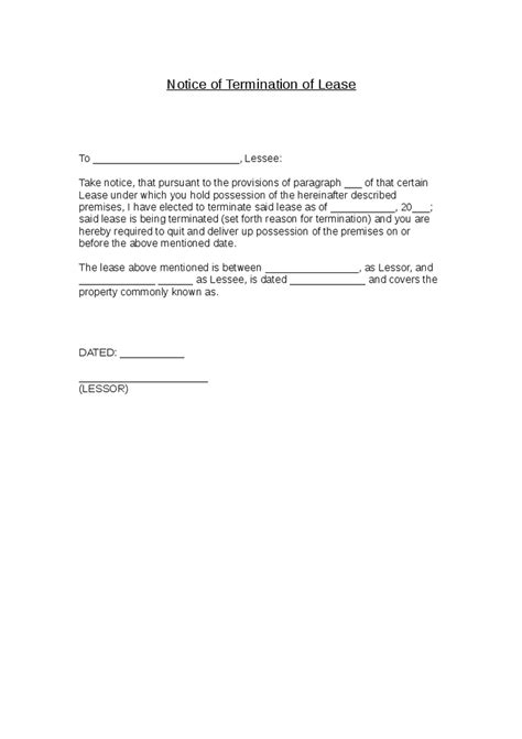 Lease Termination Letter Switzerland termination lease letter termination lease mfawriting760