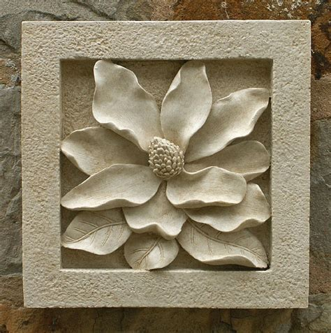 garden wall plaques uk magnolia wall tile garden wall plaques find floral wall