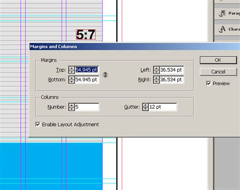 in design layout grid how to match my layout grid with my margins columns and