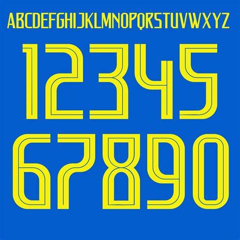 brasile coppa mondo 2018 lettere e numeri away