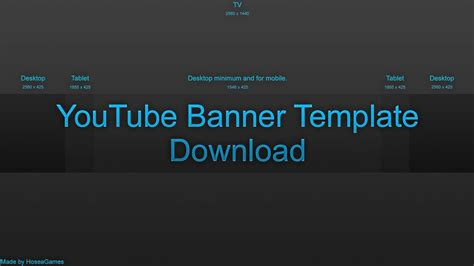 youtube blank banner template download youtube