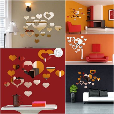 diy office wall decor modern 3d mirror acrylic home room office diy decor