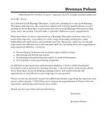 Nutritional Therapist Cover Letter by Best Lead Therapist Cover Letter Exles Livecareer
