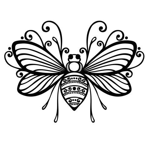 black outline bee tattoo sample tattooshunt com