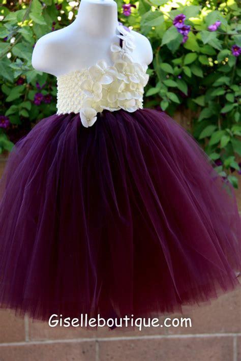 Dress Bobo Anak 2t 5t 1 flower dress eggplant plum ivory tutu dress baby