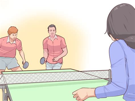 table tennis doubles how to play doubles in ping pong 9 steps with pictures