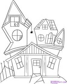house to draw how to draw a spooky house step by step halloween