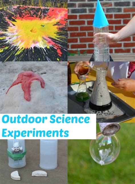 great outdoor science experiments