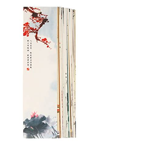 Set Of 30 Bookmark twone brush paintings bookmark set with 30