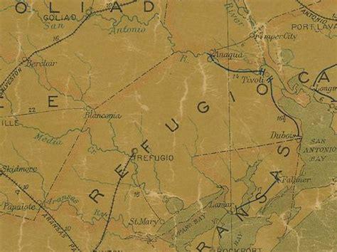 tivoli texas map refugio county texas