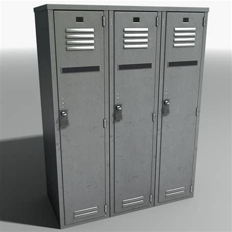 3d model metal lockers