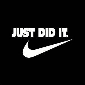 Tshirt Just Did It White just did it t shirt 53 nike slogan spoof witty humor