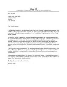 security manager cover letter resume cover letter