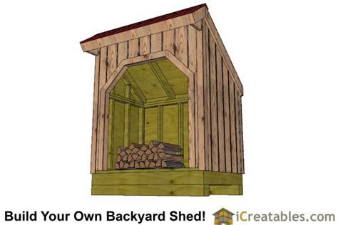 4x6 Shed Plans by 4x6 Firewood Shed Plans Lean To Shed Outdoor Backyard Shed