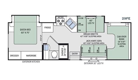 floor plans for motorhomes new 2016 thor freedom elite 29fe class c for sale 1271430