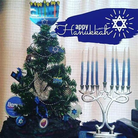 My Chanukah my hanukkah bush and menorah happy hanukkah everyone