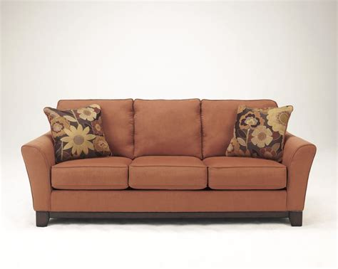 ashley furniture orange sofa 17 best images about furniture in color on pinterest