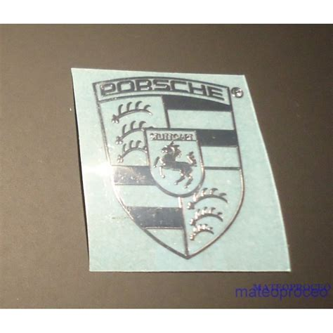 Porsche Logo Aufkleber by Porsche Label Sticker Badge Logo Metal Chrome