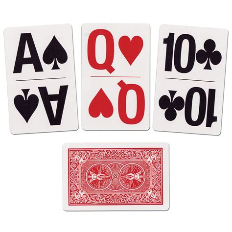 maxiaids large print bridge size playing cards