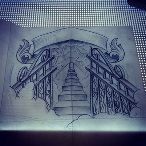 heaven gates tattoo designs heaven gates drawing at getdrawings free for