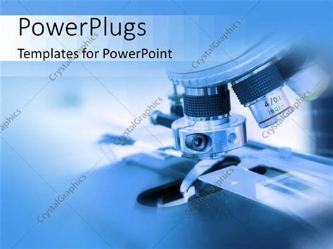 Powerpoint Template Close Up Of Microscope In Biology Or Medical Lab 20008 Biology Powerpoint Templates