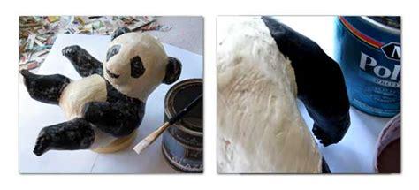 How To Make A Paper Mache Panda -