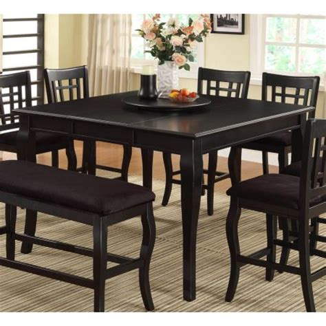 Black Counter Height Dining Table Counter Height Dining Table In Black Finish Walmart