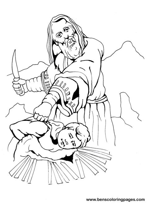 imgs for gt abraham and isaac coloring page