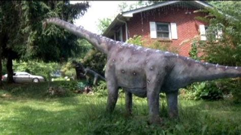 man  dinosaurs  backyard wrcbtvcom
