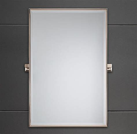 rectangle bathroom mirror dillon rectangle mirror in chrome finish restoration