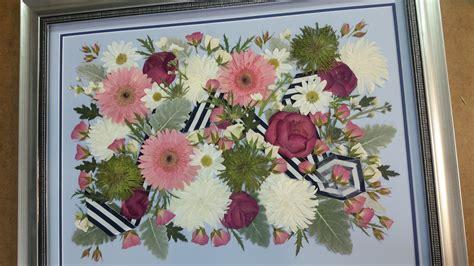 pressed flower framed wedding invitation wedding flowers pressed framed framed wedding invitation