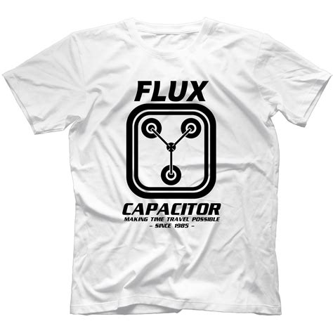 flux capacitor yourself flux capacitor back to the future t shirt 100 cotton delorean marty ebay