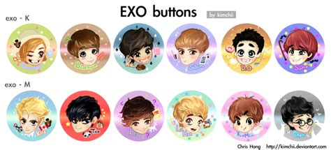 Kpop Bigbang Member Pin Badge Import exo buttons by kimchii on deviantart