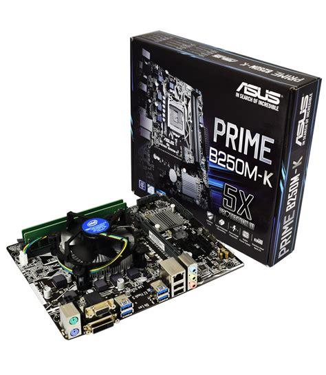 Intel Pentium G4560 3 5 Ghz intel pentium g4560 3 5ghz kabylake cpu asus b250m k
