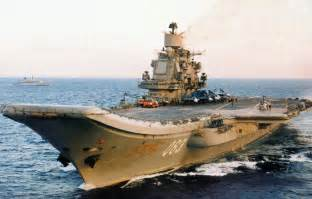 russian admiral kuznetsov class aircraft carrier
