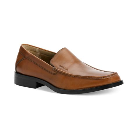 calvin klein shoes calvin klein branton moc toe slip on shoes in brown for